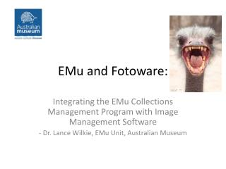 EMu and Fotoware: