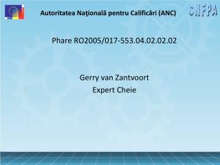 Autoritatea Naţională pentru Calificări (ANC)