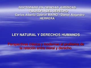 LEY NATURAL Y DERECHOS HUMANOS