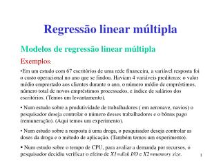 Regress o linear m ltipla