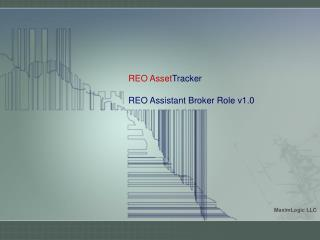 REO Asset Tracker