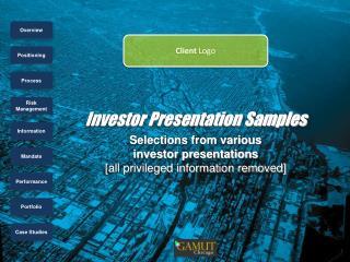 Investor Presentation Samples