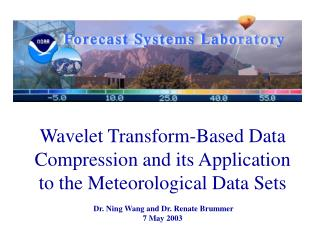 Wavelet Transform-Based Data Compression and its Application to the Meteorological Data Sets
