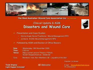 Presentation and Case Studies: Donna Angel, Nurse Practitioner  Wound Management RPH