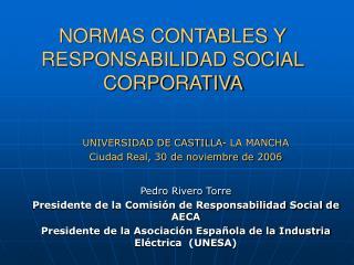 NORMAS CONTABLES Y RESPONSABILIDAD SOCIAL CORPORATIVA
