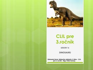 CLIL pre 3.ročník