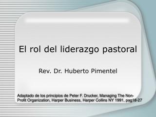 El rol del liderazgo pastoral