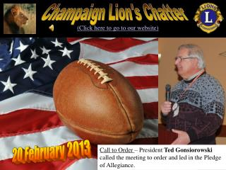 Champaign Lion's Chatter
