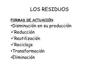 LOS RESIDUOS