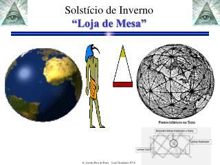 """Solstício de Inverno  """"Loja de Mesa"""""""