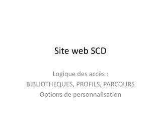 Site web SCD