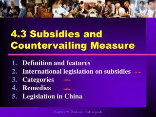 4.3 Subsidies and Countervailing Measure