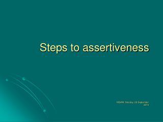 Steps to assertiveness
