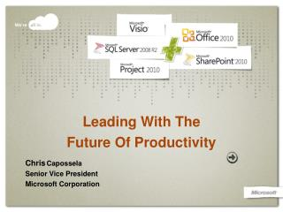 Leading With The Future Of Productivity