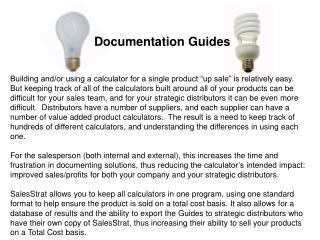 Documentation Guides