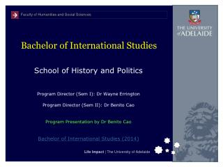 Bachelor of International Studies