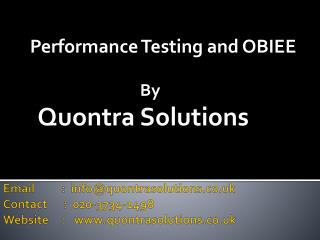 OBIEE by QuontraSolutions