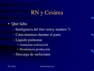 RN y Cesárea