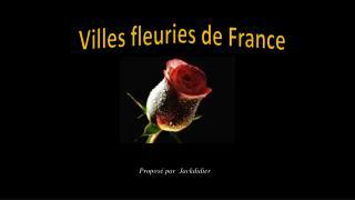 Villes fleuries de France