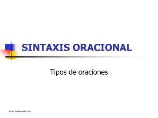 SINTAXIS ORACIONAL