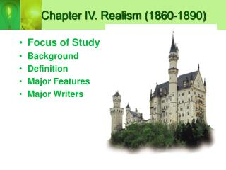 Chapter IV. Realism (1860-1890)