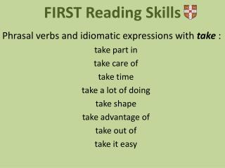 FIRST  Reading Skills
