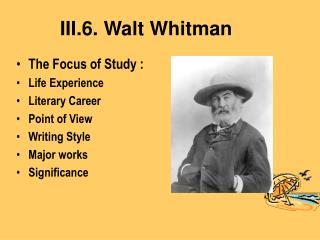 III.6. Walt Whitman
