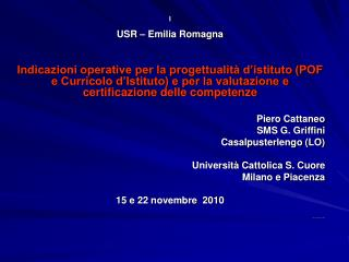 I USR – Emilia Romagna