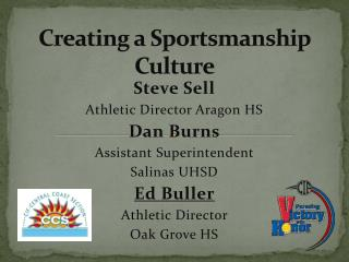 Creating a Sportsmanship Culture