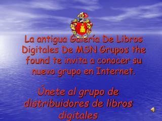 Únete al grupo de distribuidores de libros digitales