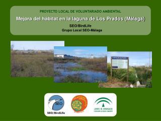 PROYECTO LOCAL DE VOLUNTARIADO AMBIENTAL Mejora del hábitat en la laguna de Los Prados (Málaga)