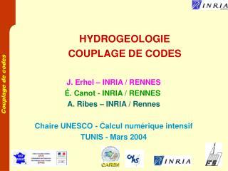 HYDROGEOLOGIE COUPLAGE DE CODES