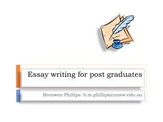 Essay writing for post graduates