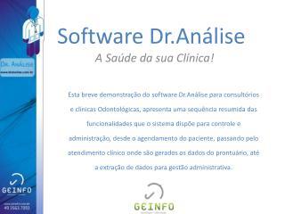 Software  Dr.Análise