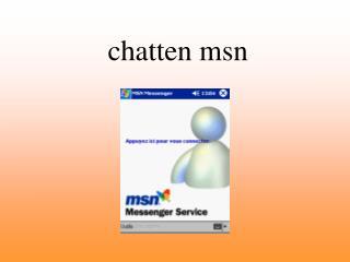 chatten msn