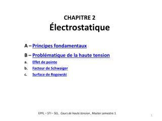 CHAPITRE 2 Électrostatique