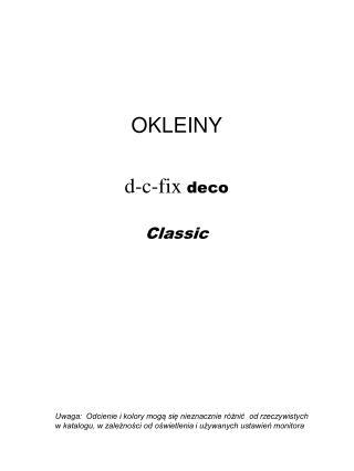 OKLEINY d-c-fix  deco Classic