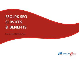 ESOLPK SEO  SERVICES  & BENEFITS