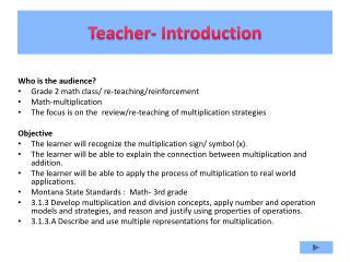 Teacher- Introduction