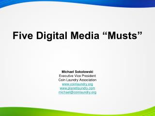 "Five Digital Media ""Musts"""