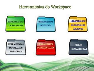 Herramientas de  Workspace