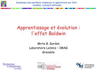 Apprentissage et évolution :  l'effet Baldwin