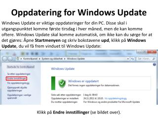 Oppdatering for Windows Update