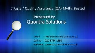 Quality Assurance (QA) Myths Busted by QuontraSolutions