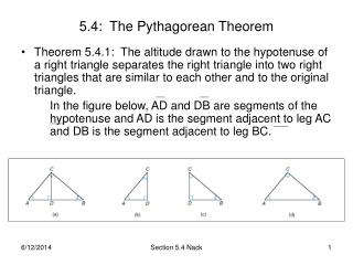 5.4:  The Pythagorean Theorem