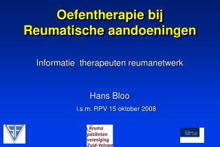Oefentherapie bij  Reumatische aandoeningen