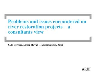 Problems and issues encountered on river restoration projects – a consultants view