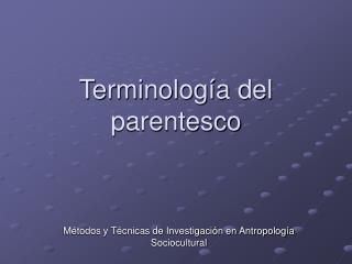 Terminología del parentesco