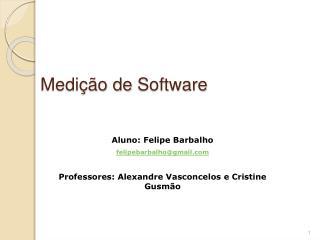 Medi  o de Software
