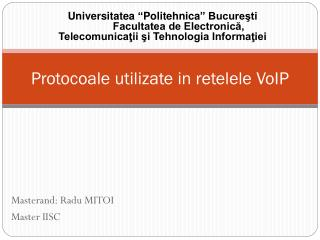Protocoale utilizate in retelele VoIP